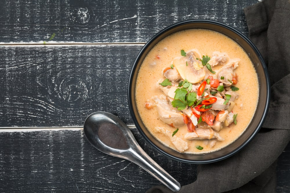 low carb thai coconut chicken soup